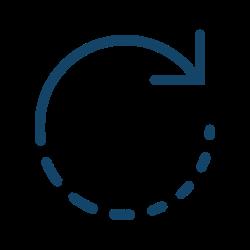 Kreis mit Pfeil in Uhrzeigerrichtung